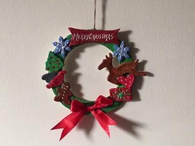 Easy Christmas craft. Easy Christmas wreath