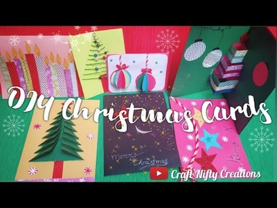 Easy Handmade Christmas Cards Ideas | #DIY #Christmas #Handmade | Craft Nifty Creations