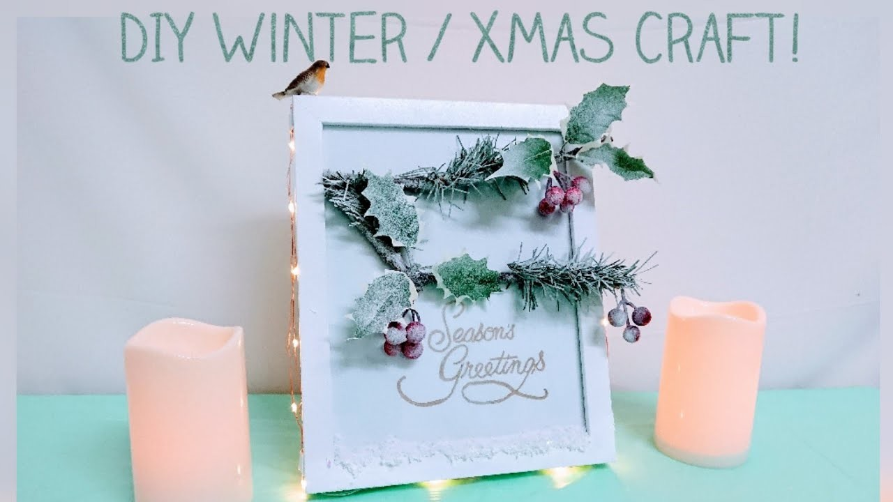 Easy Winter. Christmas Picture Frame DIY Craft Tutorial