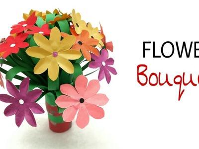 Flower Bouquet for Birthdays, Weddings & Anniversaries - DIY Tutorial by Paper Folds - 959