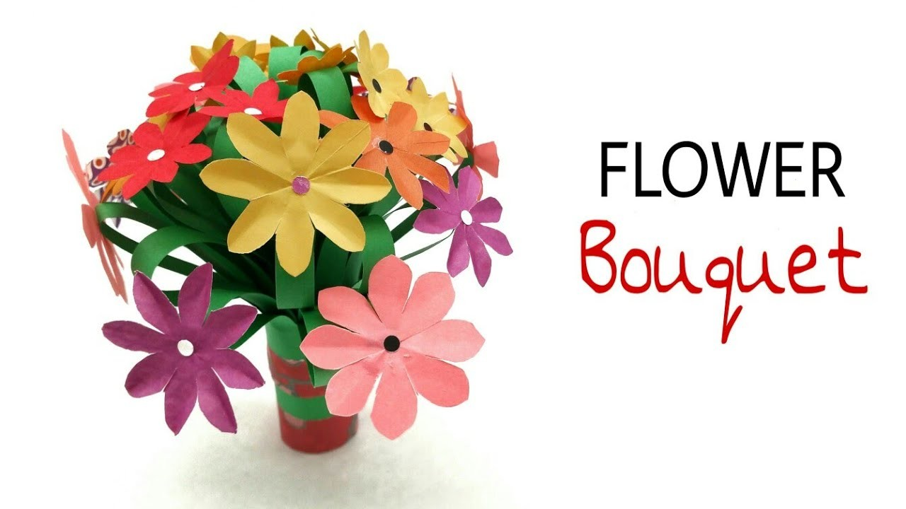 Flower Bouquet for Birthdays, Weddings & Anniversaries - DIY Tutorial by Paper Folds - 959