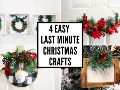 Four Last Minute Christmas Craft Ideas with Dollar Tree