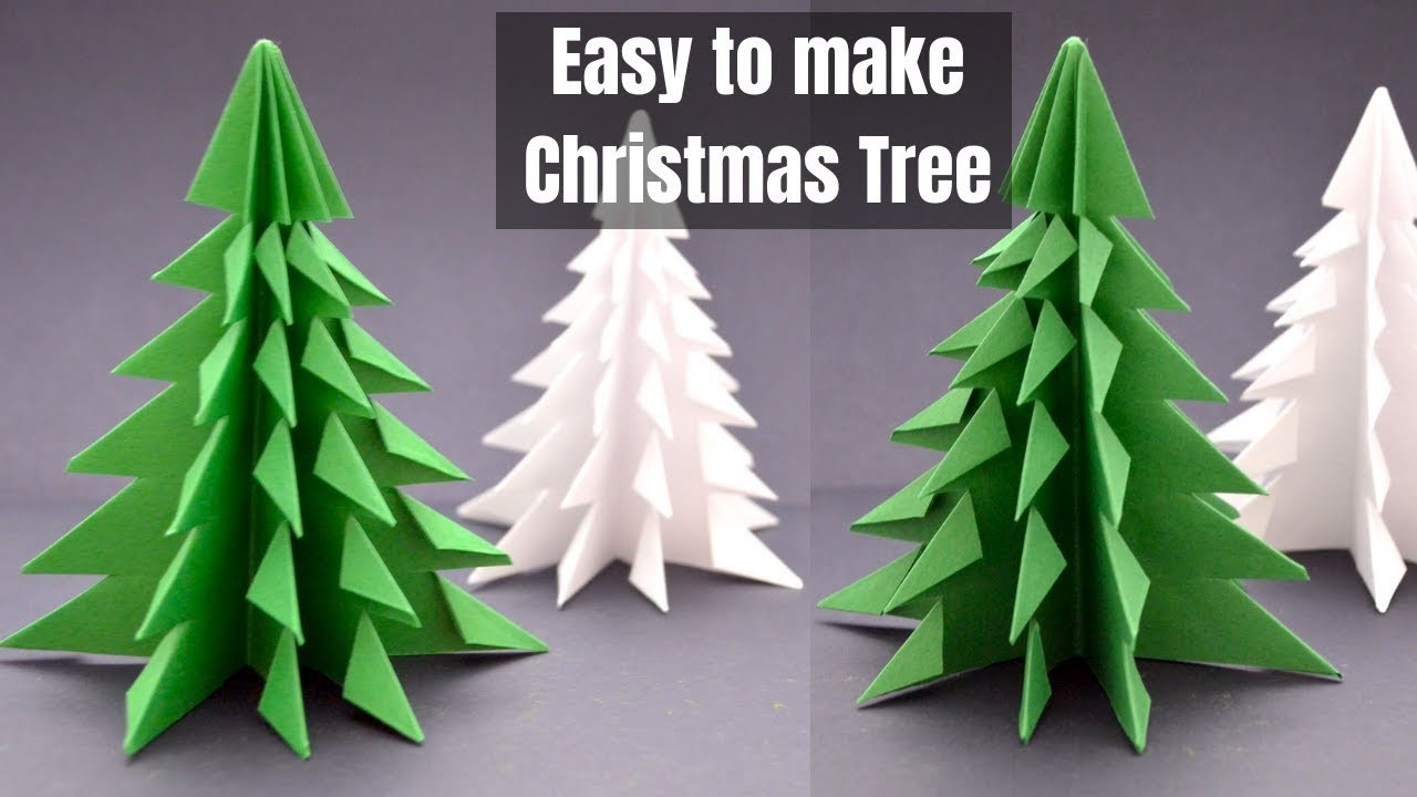 3d Paper Christmas Tree.How To Make 3d Paper Christmas Tree Easy Diy Paper Xmas