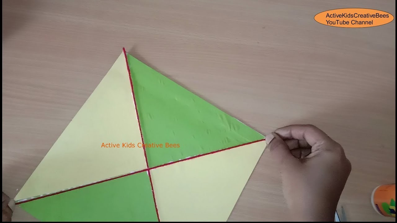 How To Make A Decorative Paper Kite Kite Decoration Ideas Kids Craft