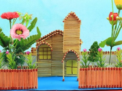 ???? How to Make a Easy Match House at Home ???? - DIY Matchsticks Craft ???? - SoAm Crafts