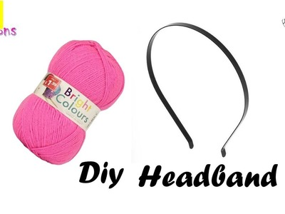 How to make a headband | Wool craft ideas | Easy to make Hair accessories at home |diy useful crafts