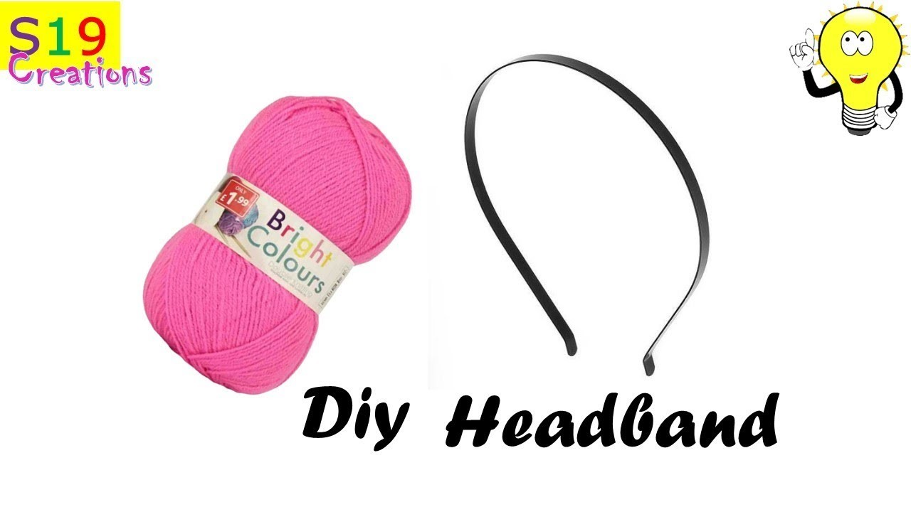 How To Make A Headband Wool Craft Ideas Easy To Make Hair