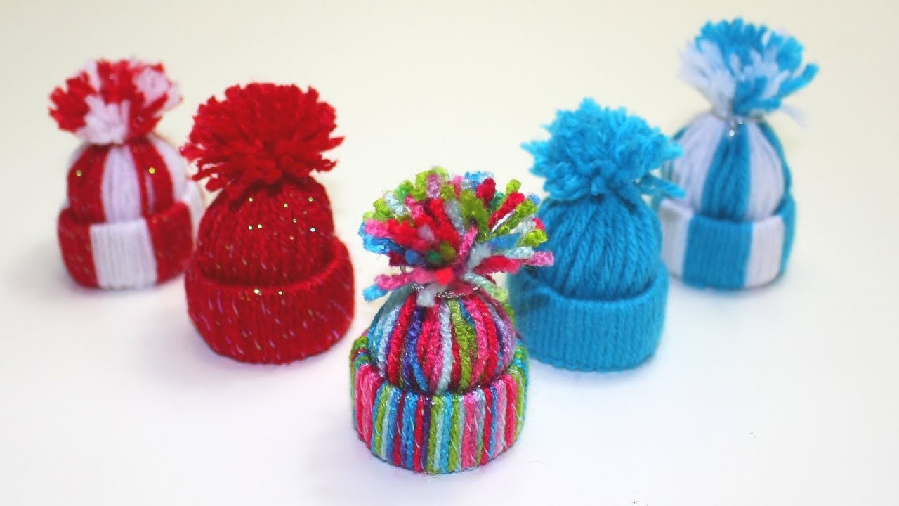 How to Make a Mini Christmas Yarn Hat | Christmas Craft for Kids