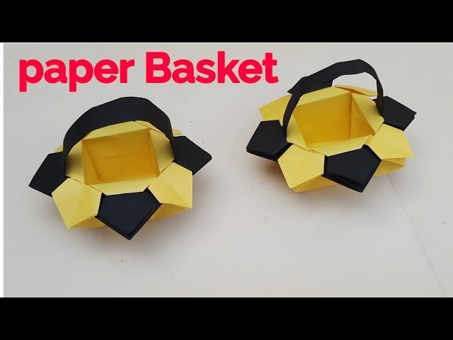 How to make a paper Basket | Easter paper basket | paper Basket craft ideas Handmade tutorial
