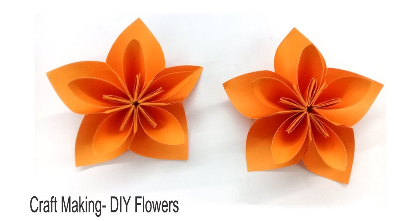 How To Make A Simple Paper Flowers Diy By Craft Making