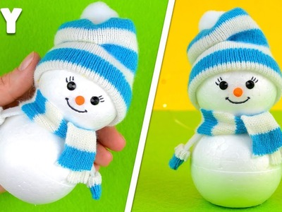 How to make a Snowman | Christmas craft for kids & New Year decor
