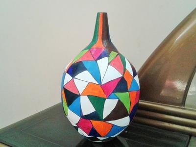 How to make a vase - DIY Craft Flower Vase