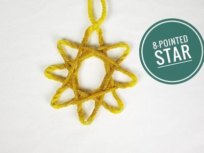 How to Make an 8-Pointed Star using a Loom (DIY tutorial)