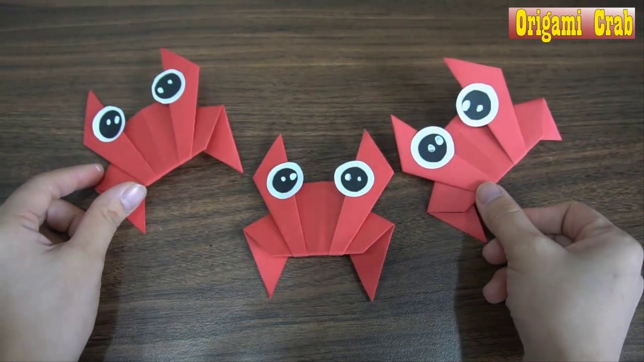 how to make an origami crab paper craft art