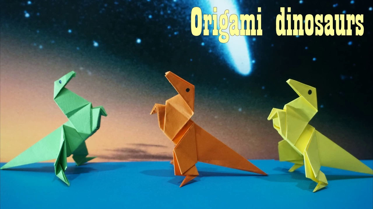 How To Make An  Origami Dinosaurs || paper craft art