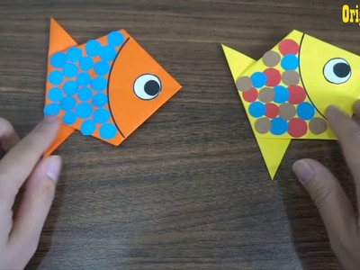 How To Make An Origami fish || paper craft art