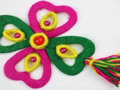 How to Make Beautiful Woolen Door Hanging Toran    Woolen Craft Idea - New woolen design - DIY arts