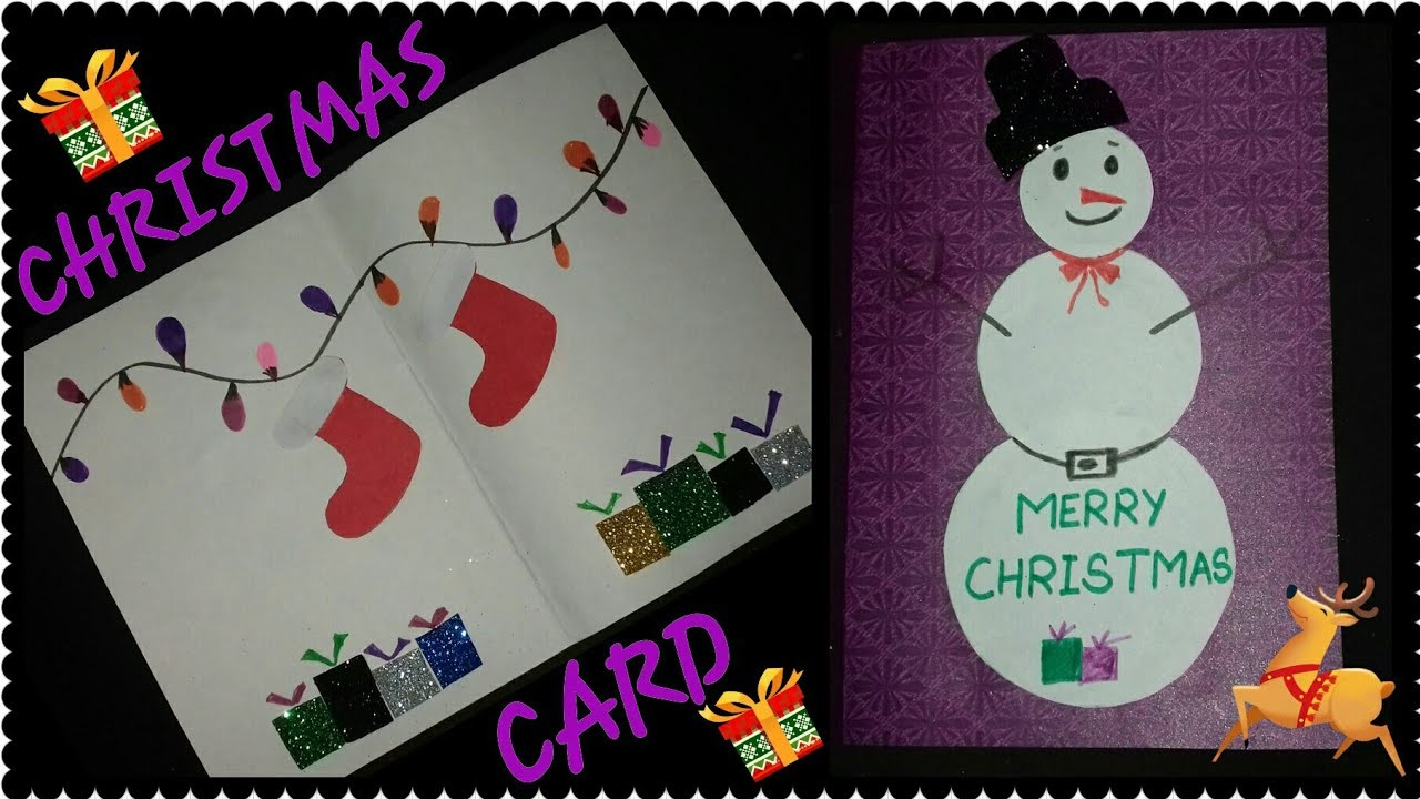 christmas crafts for toddlers how to make christmas card christmas card easy craft for 10563
