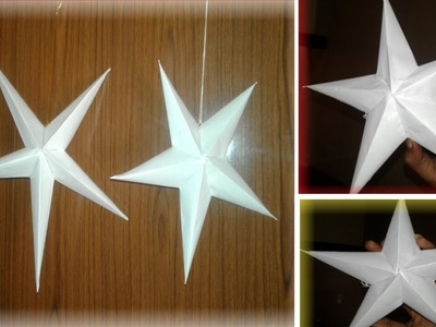 How To Make Christmas Paper Star ||Craft Paper star Home decorating#3