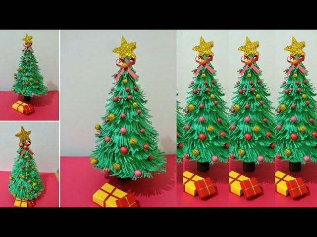 How to make Christmas tree craft.christmas day craft.Christmas card.Paper craft.xmastree.xmas