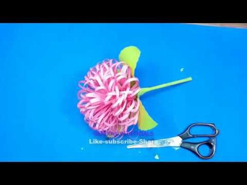 How to make delicious origami paper flowers | how to make DIY crafts