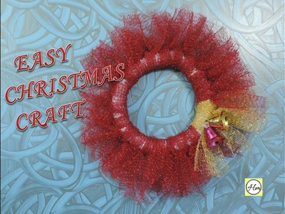 How to make of beautiful  christmas wreath | Easy  christmas craft ideas