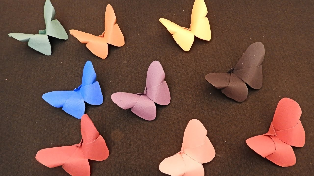 How To Make Paper Butterfly Easy Paper Butterfly No Glue Craft