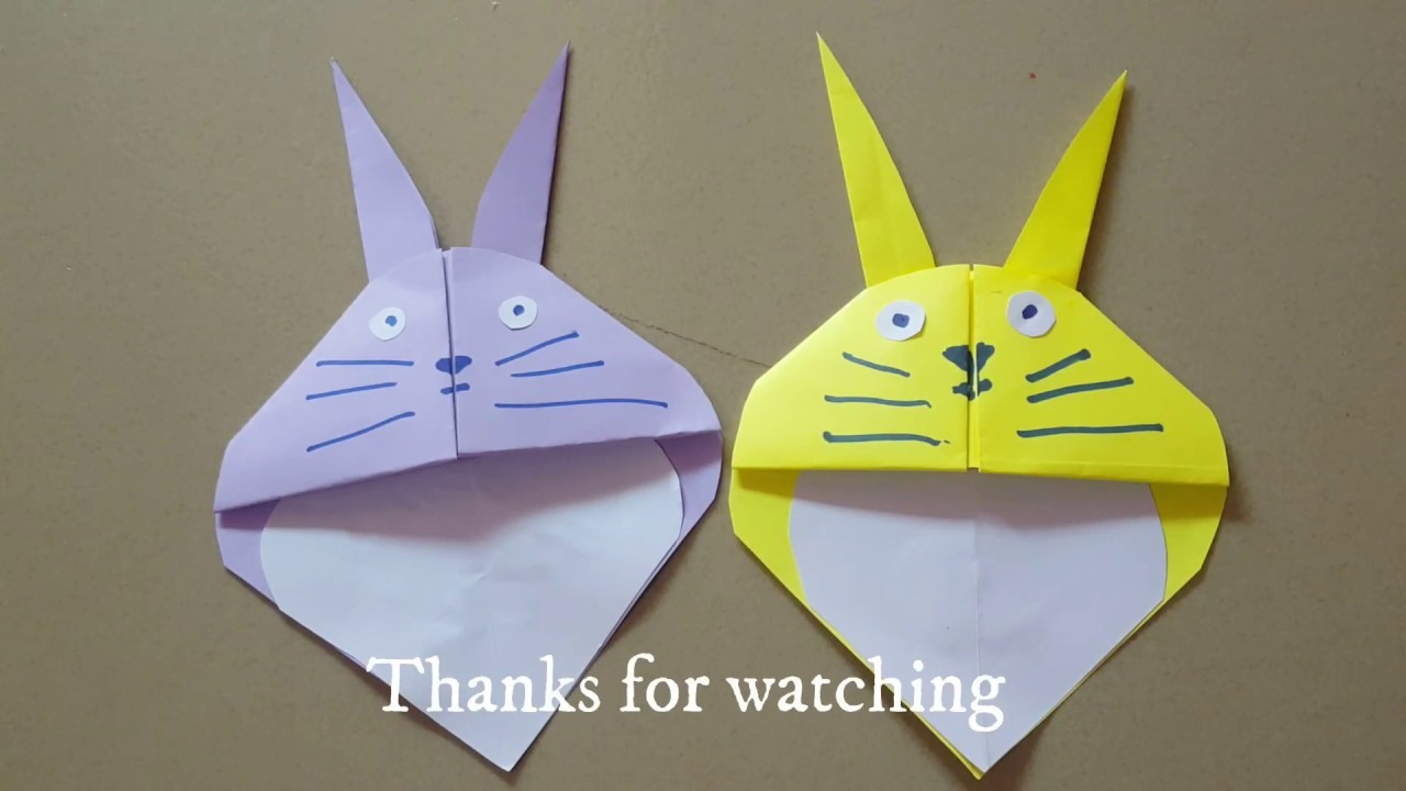 How to make paper cat, Craft paper funny Very Easy.