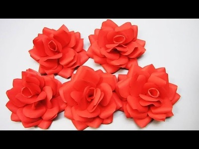 How To Make Paper Rose Flower - DIY Handmade Craft - Paper Craft