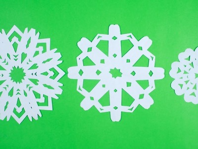 HOW TO MAKE PAPER SNOWFLAKES FAST, EASY AND BEAUTIFUL
