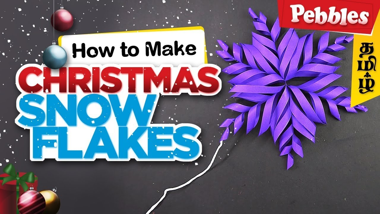 How to Make Snowflake With Paper   DIY Christmas Craft   Christmas decoration ideas