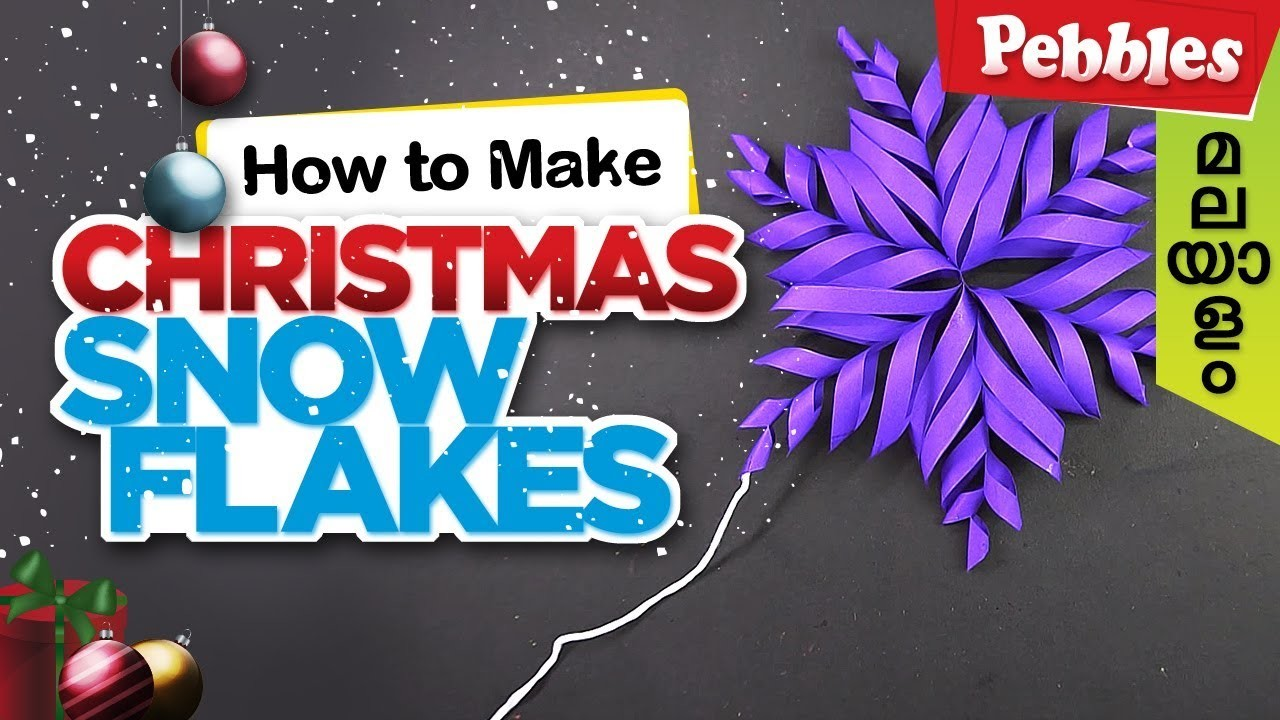 How To Make Snowflake With Paper In Malayalam Diy Christmas Craft