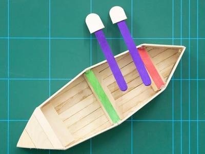 Ice Cream Stick Craft Boat - How To Make Ice Cream Stick Boat