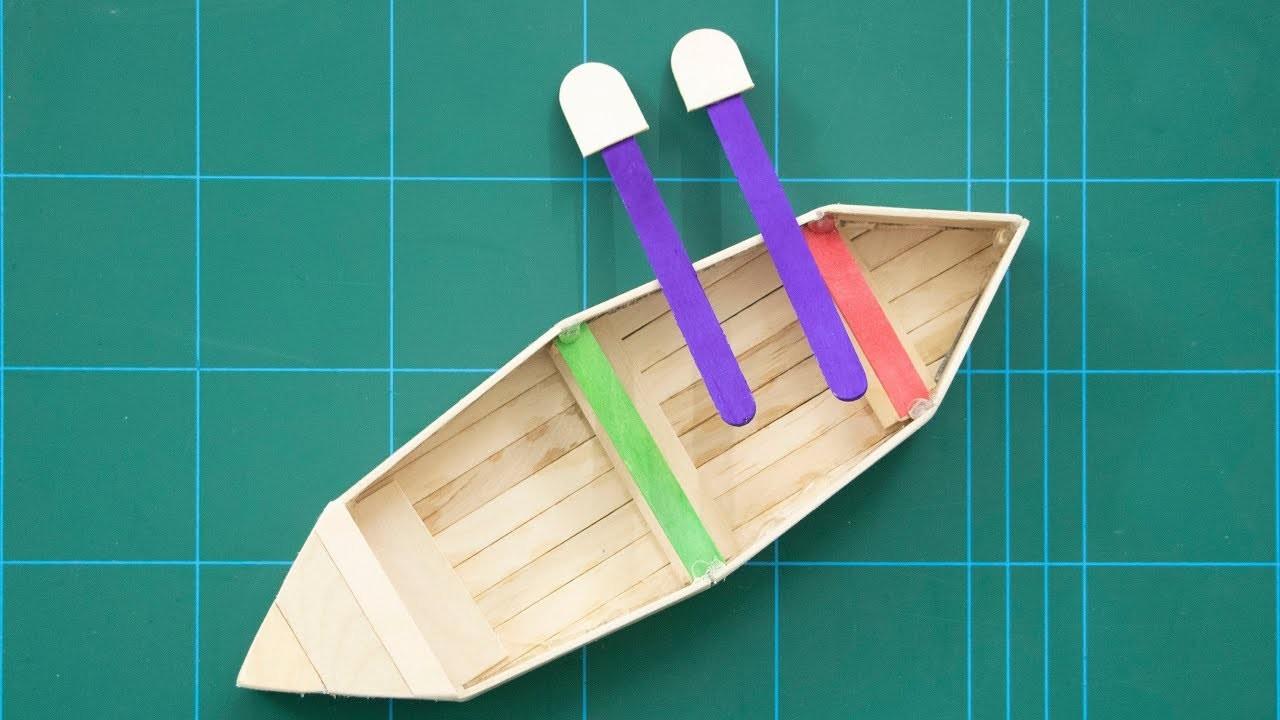 ice cream stick craft boat how to make ice cream stick boat