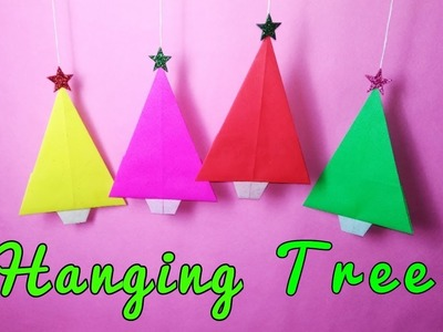 Mini Christmas Tree For Hanging Decoration || Wall Hanging Craft Ideas with Paper