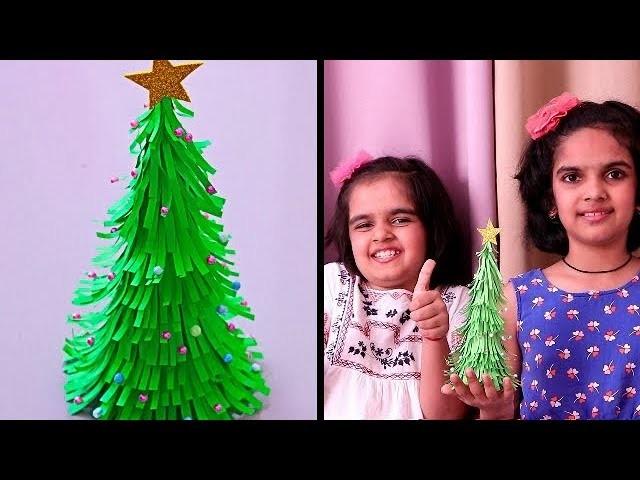 PAPER CHRISTMAS TREE | Easy Christmas Tree | Christmas Craft Ideas | DIY Christmas Tree Tutorial