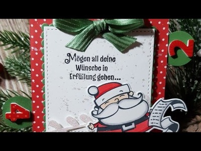 """Perfectly packed at christmas time No. 5 """" Advent box """". Adventsbox mit Produkten von Stampin Up"""