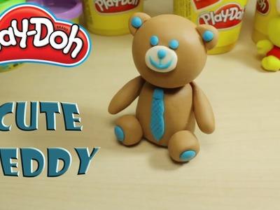 Play Doh Teddy Bear Wearing a Costume Tutorial DIY