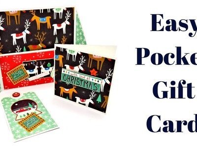Pocket Gift Card | Christmas Workshop 2018 | Mixed Up Craft