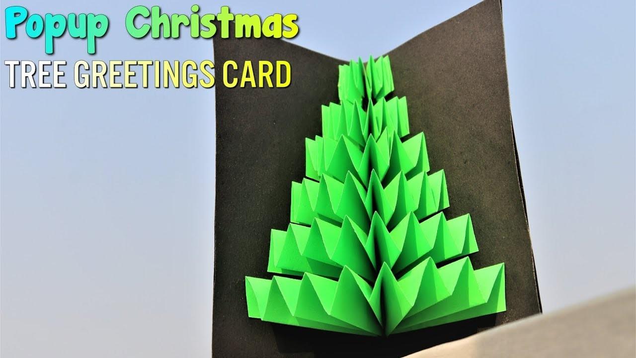Pop-Up Christmas Greetings Card || Paper Craft Ideas ||  DIY Christmas  Ideas