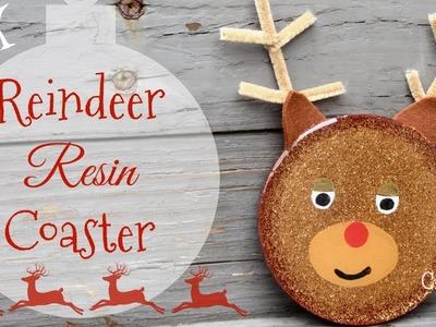 Reindeer Resin Coaster Christmas DIY   Another Coaster Friday   Craft Klatch