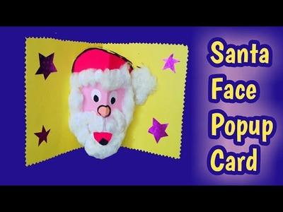 Santa face Popup Card|| Christmas greeting card|| Popup card|| Paper craft ideas