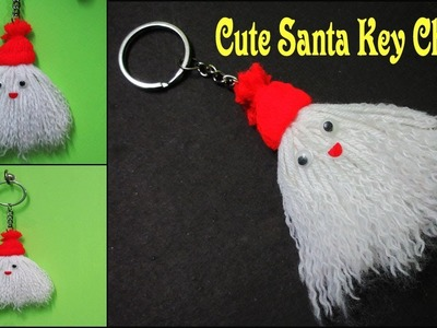 Santa Key Chain Craft | How To Make Merry Christmas Santa Key Chain | DIY Yarn Cute Key Chain Craft