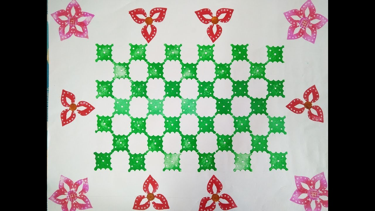 Saree Border Design Vegetable Printing Bellbabys Craft Centre