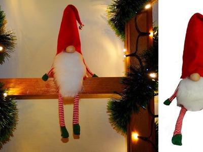 Scandinavian Christmas gnome craft idea .Scandinavian Tomte Nisse Christmas Gnome DIY Tutorial