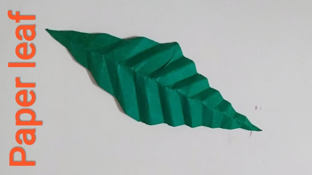 ज़रूर देखिए चौकोन कागज़ से कैसे बन गयी वृक्ष की पत्ती - Square Paper Leaf Craft - Origami Tutorial