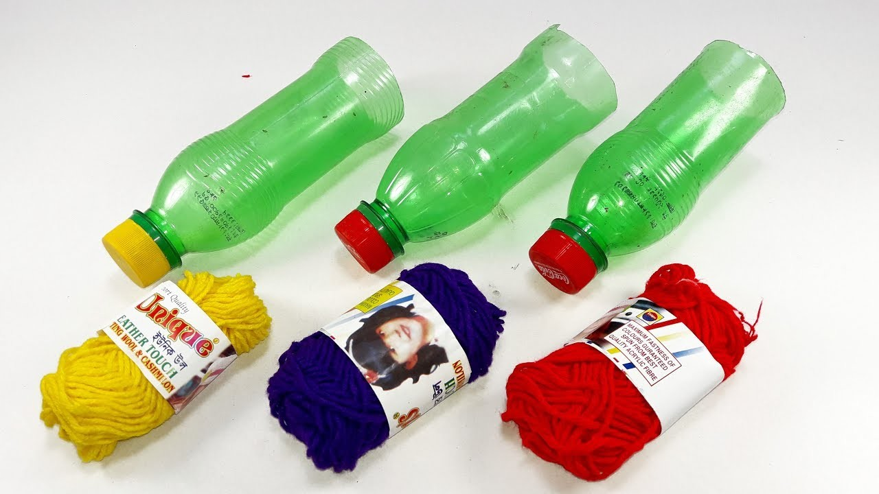 Waste plastic bottle craft idea | best out of waste | plastic bottle reuse idea