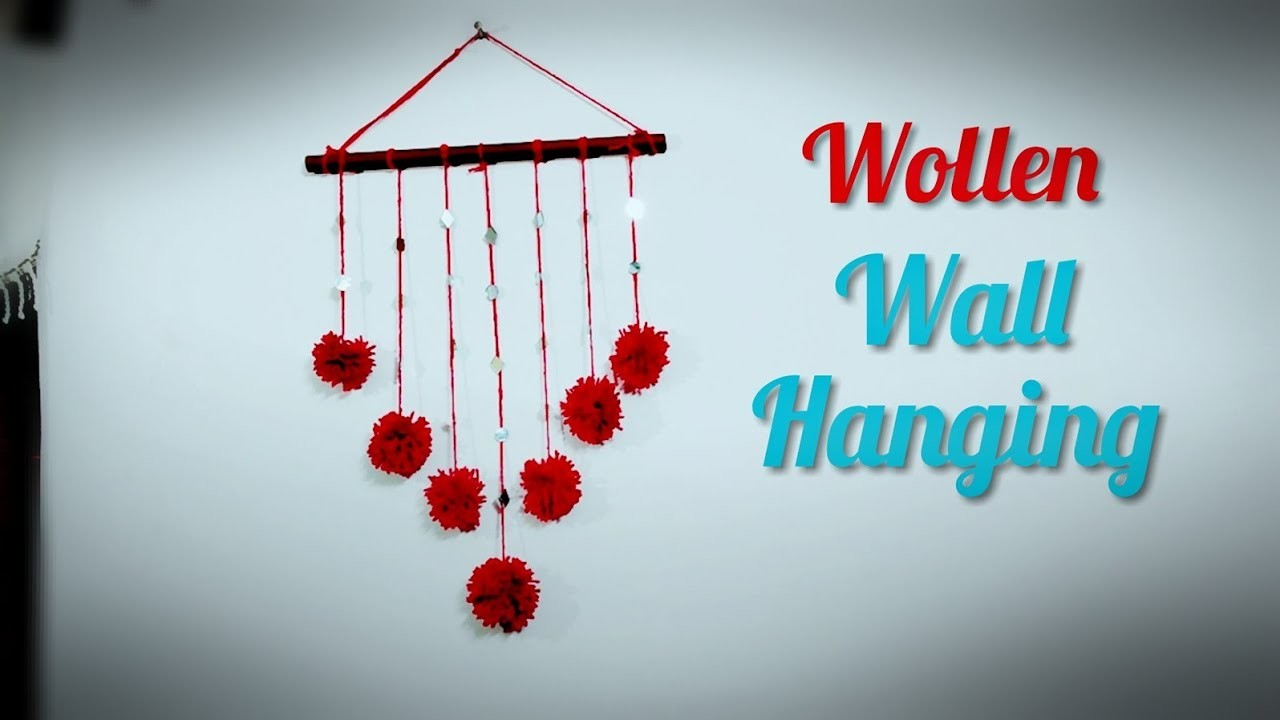 diy home decorating crafts woolen wall hanging diy pom pom home decorations 10766