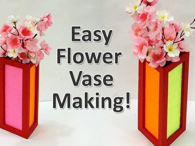 Woollen Flower Pot! Learn Very Easy Flower Pot Making Craft for Home Decoration | Best out of waste
