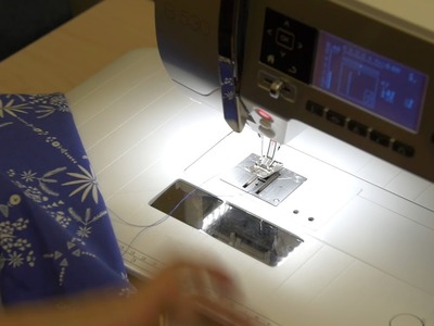 287 - Little Girls Dress - Attaching skirt to bodice (3.3) Permanently stitching gathered edge